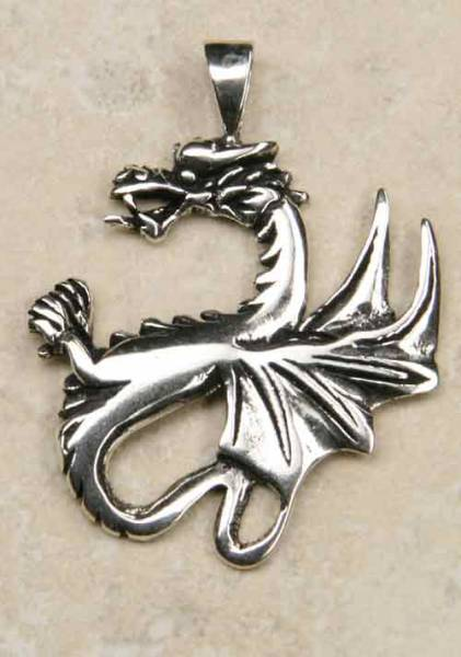Drache keltisch 925 Sterlingsilber