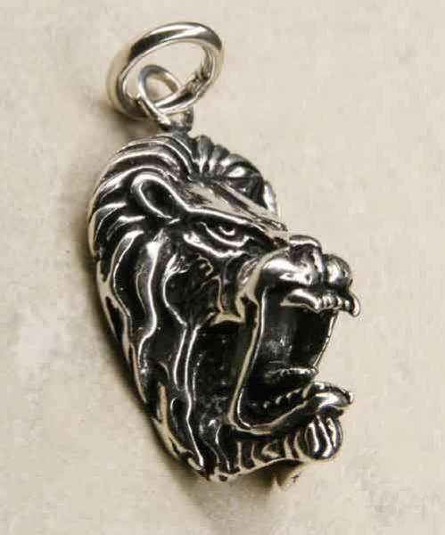 Löwe Kopf Schmuck Silber Anhänger