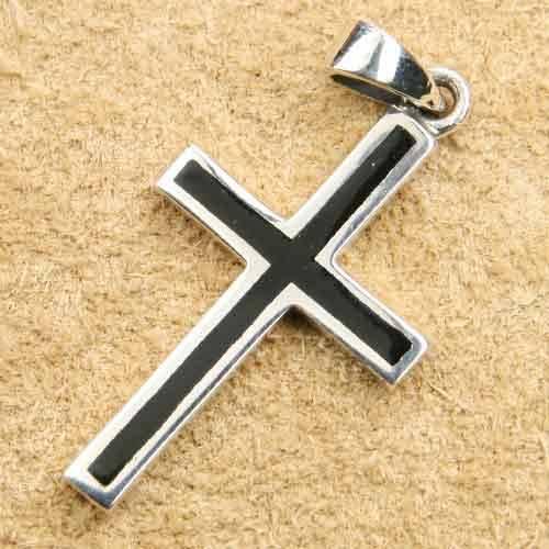 Kreuz mit Onyx Schmuck Kettenanh