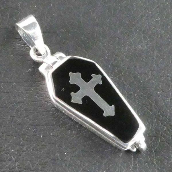 Sarg Medaillion Silber Kettenanhänger