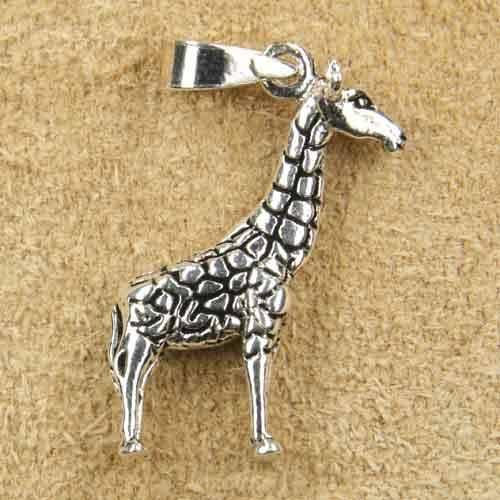Giraffe Schmuck Kette Anhänger Silber