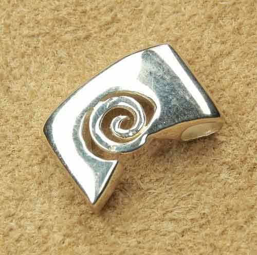 Spirale Design Anhänger Silber