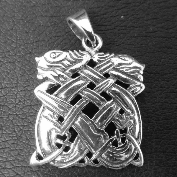 Keltische Hunde Silber Schmuck Anhänger