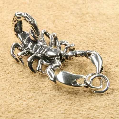 riesiger Scorpion 925 Silber Schmuckanh