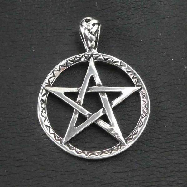 Pentagramm Schmuck Anhänger Silber Kettenanhänger
