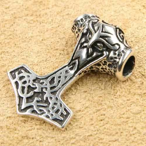 Thor Hammer massiv 925 Silber Schmuckanh