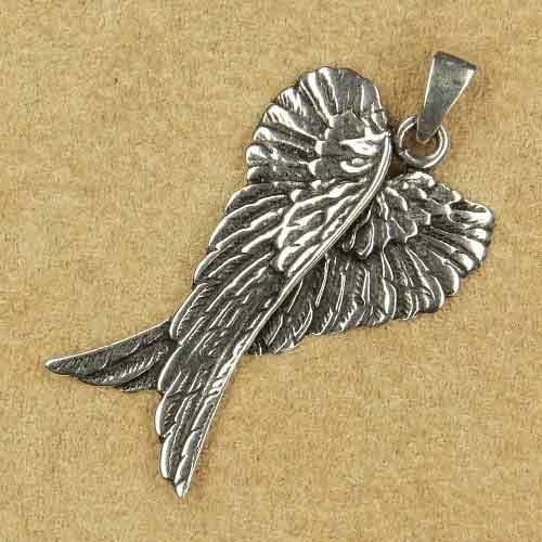 Engelsflügel Silber Anhänger Kette