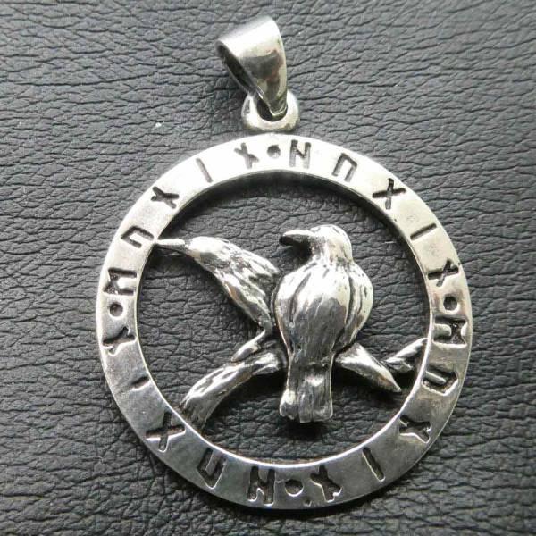 Raben Odins Anhänger Schmuck Silber