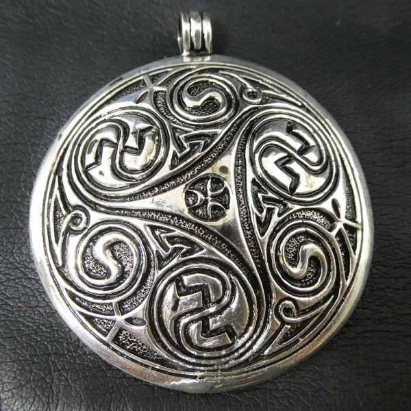 Triskel Silber Anhänger riesig massiv schwer Keltischer Schmuck