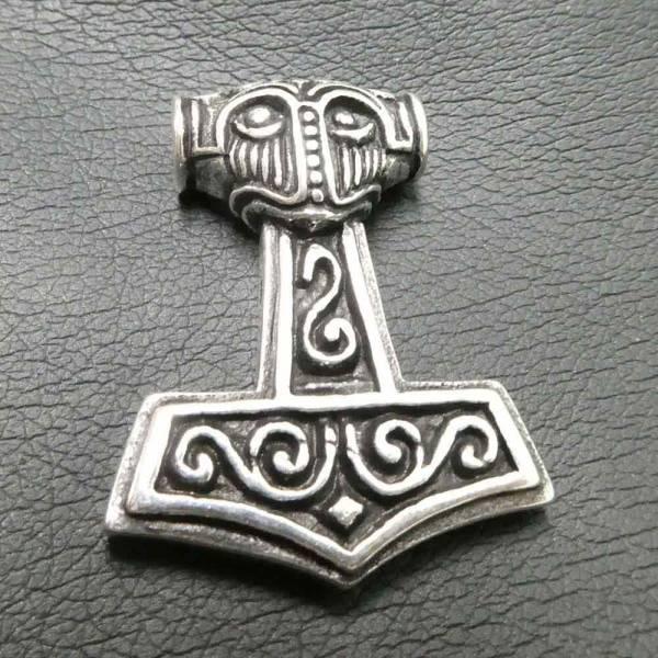 Thorshammer Schmuck anhänger massiv Silber