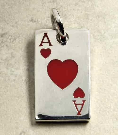 Herz Ass Spielkarte Schmuckanh