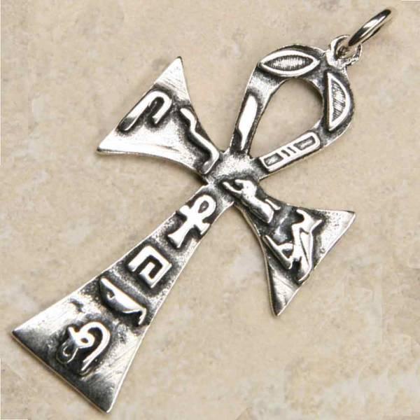 Ankh Anhänger Hiroglyphen Silber schmuck