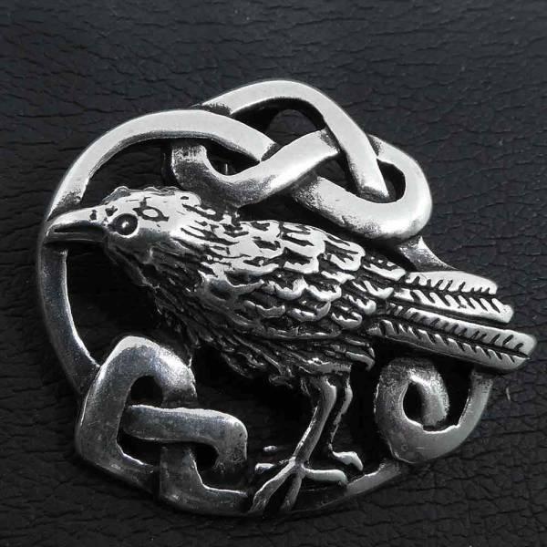 Keltischer Rabe Schmuck Anhänger 925 Silber