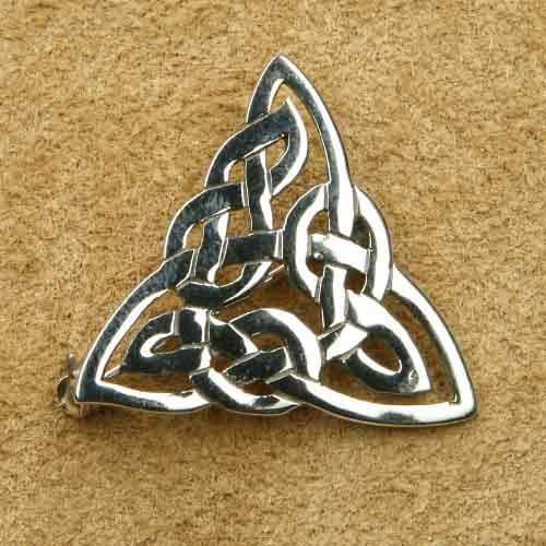 Brosche Keltenknoten Dreieck Silberschmuck