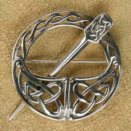 Silber Brosche keltische Fibel
