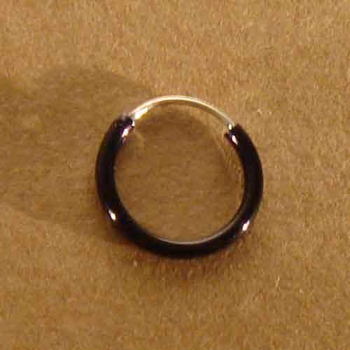 Creole schwarz 925 Silber 8mm