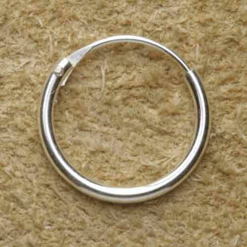 Creole glatt 925 Silber 12 mm