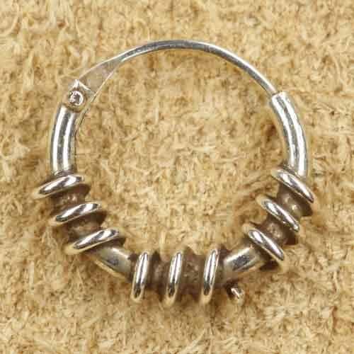 Creole 925 Silber 10mm kleine Ringe
