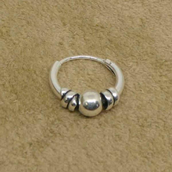 Kleine Creole 10mm Silber