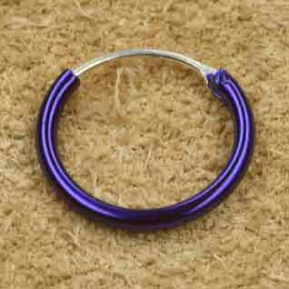 Creole blau 925 Silber 12 mm