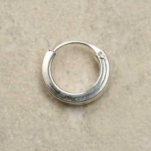 Silber Creole glatt Vierkant 10mm