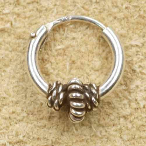Creole 925 Silber Ohrring Schmuck 10mm