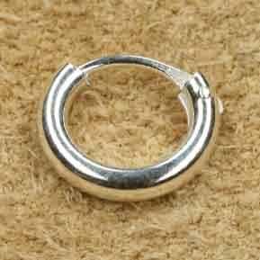 Creole 925 Silber 10mm / 2mm rund schlicht