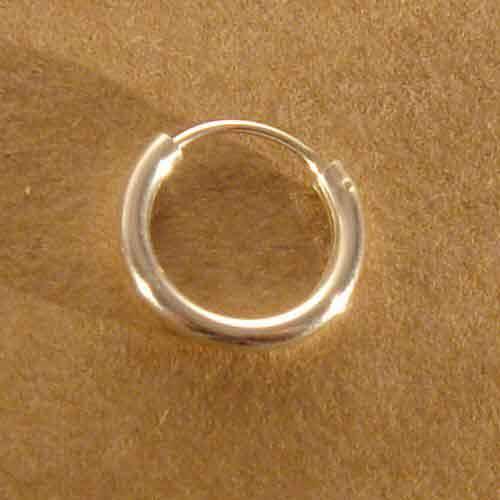 Creole 925 Silber schlicht  rundes Profil 12 mm