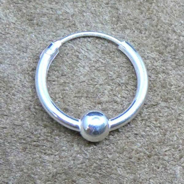 Creole 12 mm schlicht mit Kugel