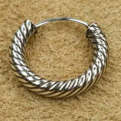 Kreole 925 Silber Bali 16 mm