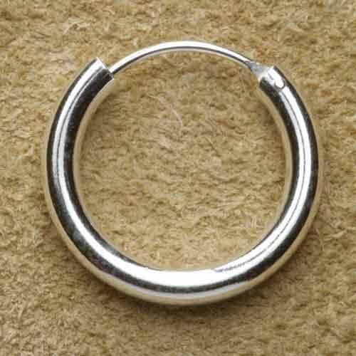Creole 925 Silber schlicht rundes Profil 18 mm
