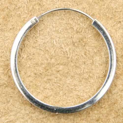 Creole glatt eckig 925 Silber 26 mm