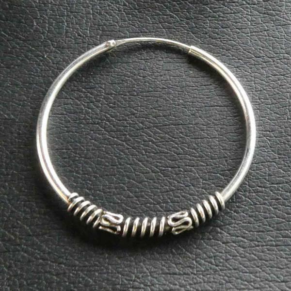 Creole Silber Ohrschmuck 35mm / 1,6mm  925 Silber