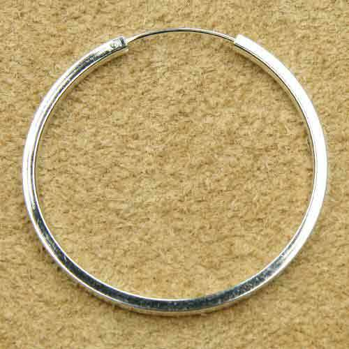Kreole schlicht 40mm eckiges Profil 925 Silber