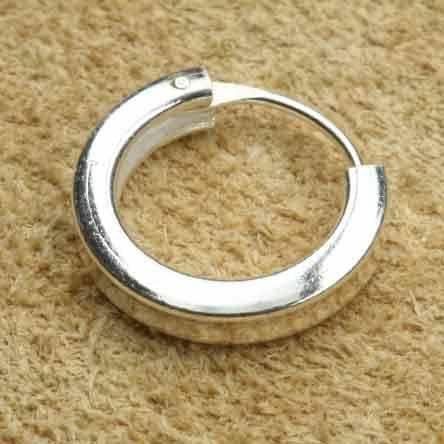 Creole 925 Silber schlicht eckig 16 mm