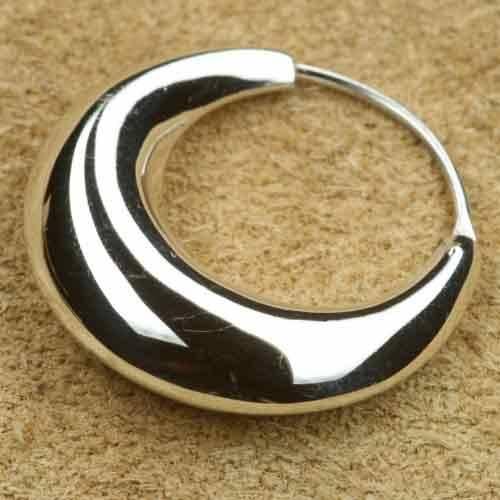 Creole konisch 925 Silber 25 mm