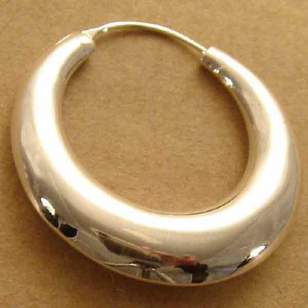 Riesige Creole 45mm Silber Ohrschmuck