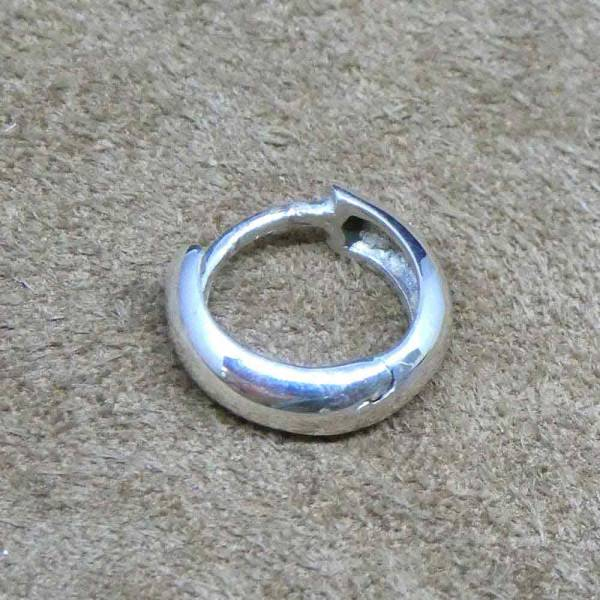 Scharniercreole 12mm Sterlingsilber rund