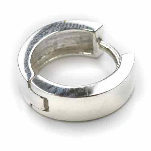12mm Silber Klappcreole Scharniercreole eckig