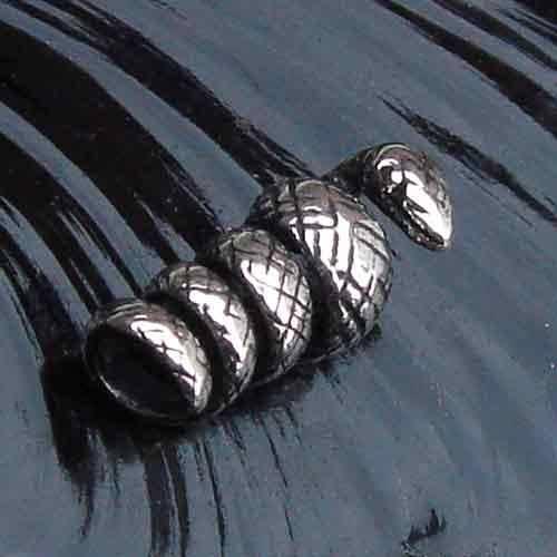 Bartschmuck Schlange Silber Wikingerschmuck