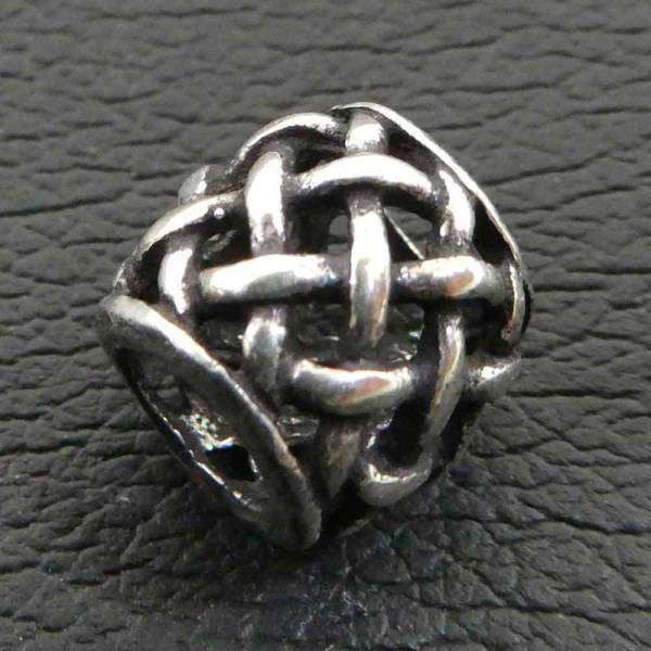 Keltische Bartperle Silber Dreadlock Bartschmuck