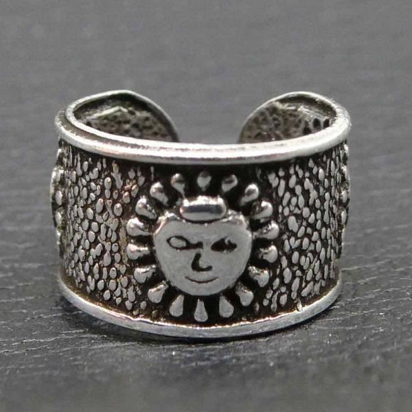 Ohrklemme Sonne Silber Ohrschmuck