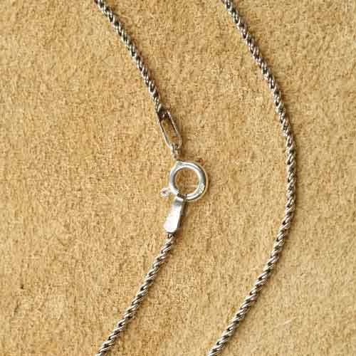 Silberkette gedreht 1,3 mm Halskette
