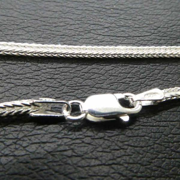 Fuchsschwanz Silberkette Halskette 1,6mm Stärke