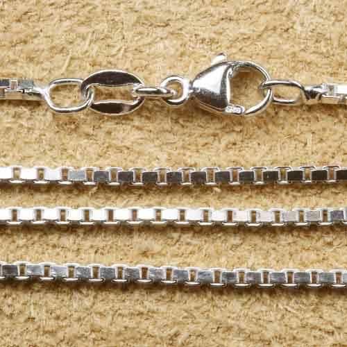 1,5mm rhodinierte Venezianerkette Silber