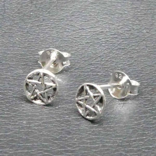 Pentagramm Ohrring  925 Silber