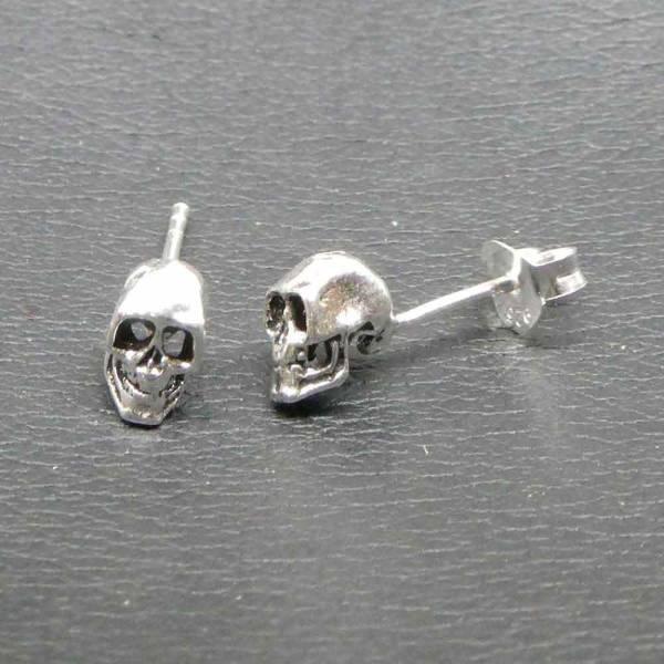 Skull Ohrstecker Ohrschmuck Schädel
