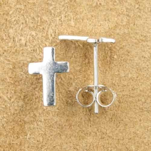 Kreuz Ohrstecker 925 Silber