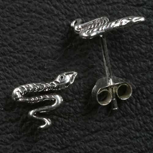 Ohrstecker Schlange 925 Silber