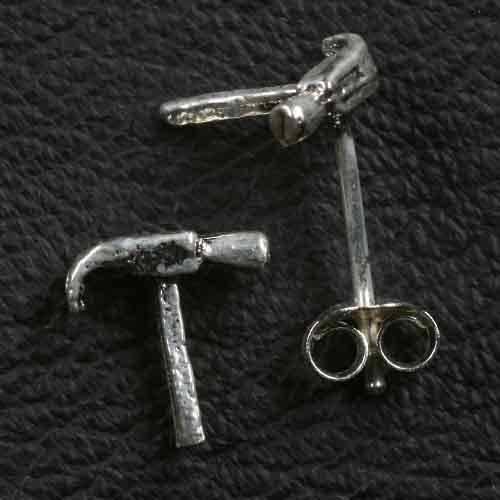 Hammer Ohrstecker 925 Silber